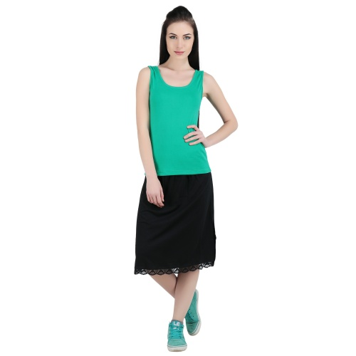 Regular (Knee Length)Skirt Slip In Cotton Rich Fabric